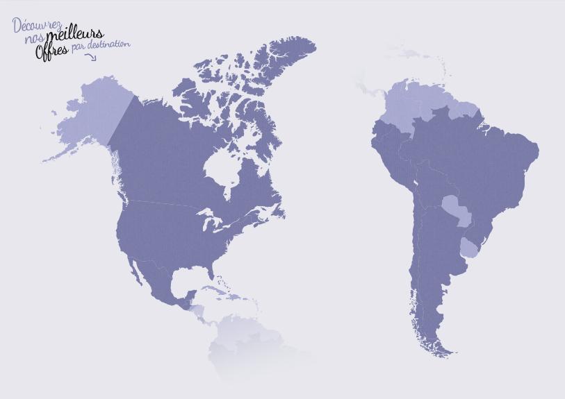 Carte Amerique