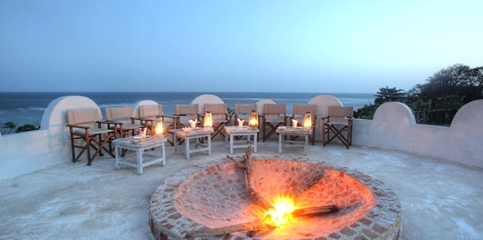 Feu hôtel Msambweni Beach House