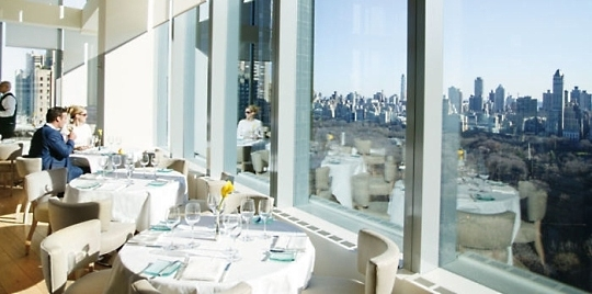 Restaurant vue panoramique hôtel Mandarin Oriental New York